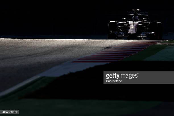 Sebastian Vettel of Germany and Ferrari drives during day three of Formula One Winter Testing at Circuit de Catalunya on February 21 2015 in Montmelo...