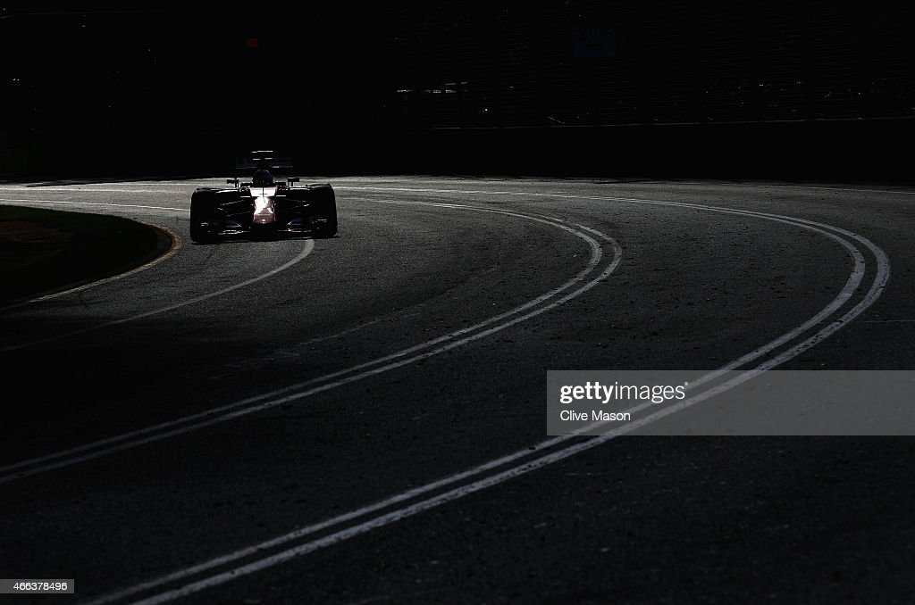 Sebastian Vettel of Germany and Ferrari drives during the Australian Formula One Grand Prix at Albert Park on March 15, 2015 in Melbourne, Australia.