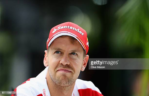 Sebastian Vettel of Germany and Ferrari in the Paddock during previews for the Malaysia Formula One Grand Prix at Sepang Circuit on September 29 2016...