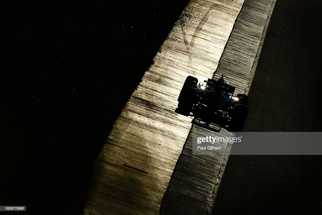 Sebastian Vettel of Germany and Infiniti Red Bull drives during Formula One winter testing at Circuito de Jerez on February 8, 2013 in Jerez de la Frontera, Spain.