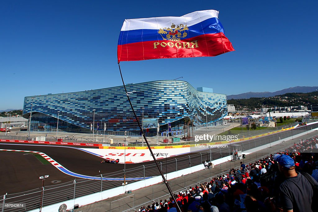 Sebastian Vettel of Germany and Infiniti Red Bull Racing drives during final practice ahead of the Russian Formula One Grand Prix at Sochi Autodrom...