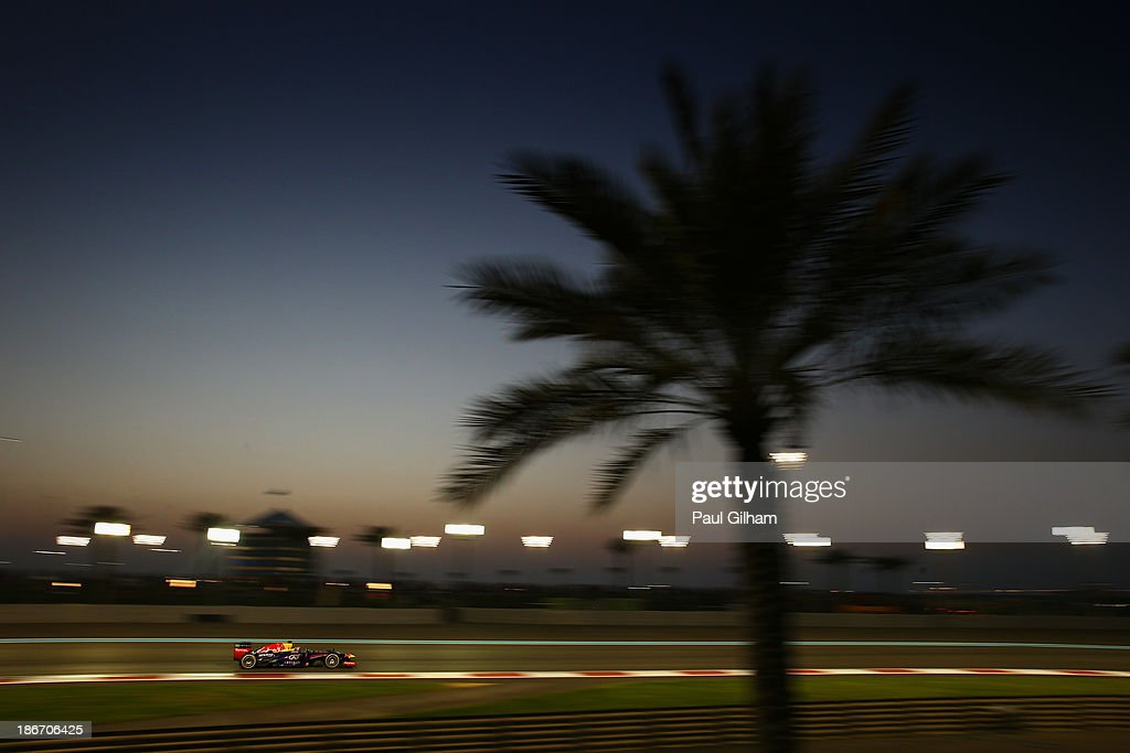 Sebastian Vettel of Germany and Infiniti Red Bull Racing drives during the Abu Dhabi Formula One Grand Prix at the Yas Marina Circuit on November 3, 2013 in Abu Dhabi, United Arab Emirates.