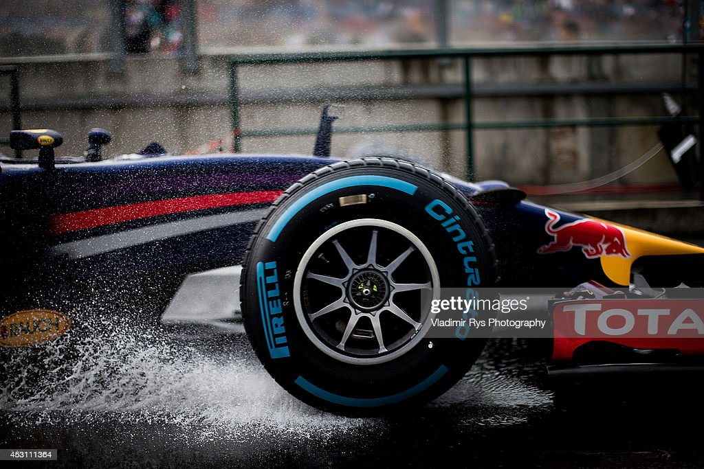 Sebastian Vettel of Germany and Infiniti Red Bull Racing drives during the Hungarian Formula One Grand Prix at Hungaroring on July 27, 2014 in Budapest, Hungary.
