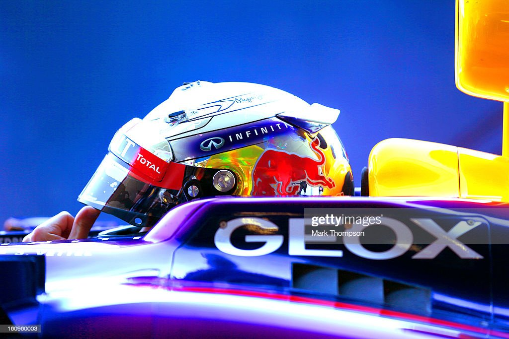 Sebastian Vettel of Germany and Infiniti Red Bull Racing prepares to drive during Formula One winter testing at Circuito de Jerez on February 8, 2013 in Jerez de la Frontera, Spain.