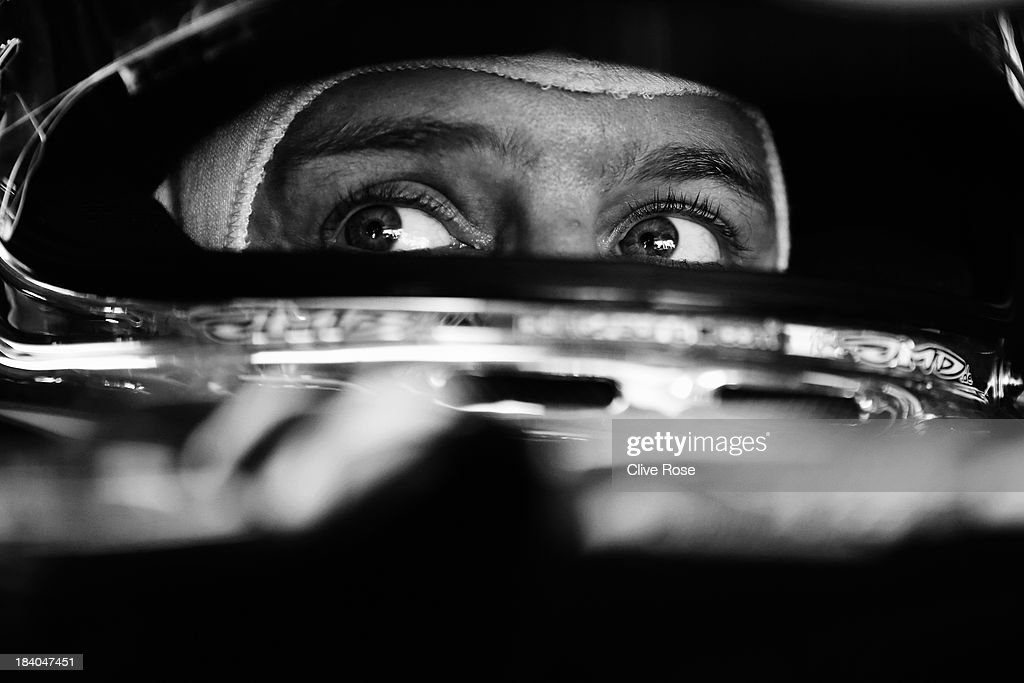 Sebastian Vettel of Germany and Infiniti Red Bull Racing prepares to drive during practice for the Japanese Formula One Grand Prix at Suzuka Circuit on October 11, 2013 in Suzuka, Japan.