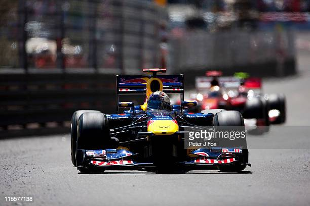 Sebastian Vettel of Germany and Red Bull during the Monaco Formula One Grand Prix at the Monte Carlo Circuit on May 29 2011 in Monte Carlo Monaco