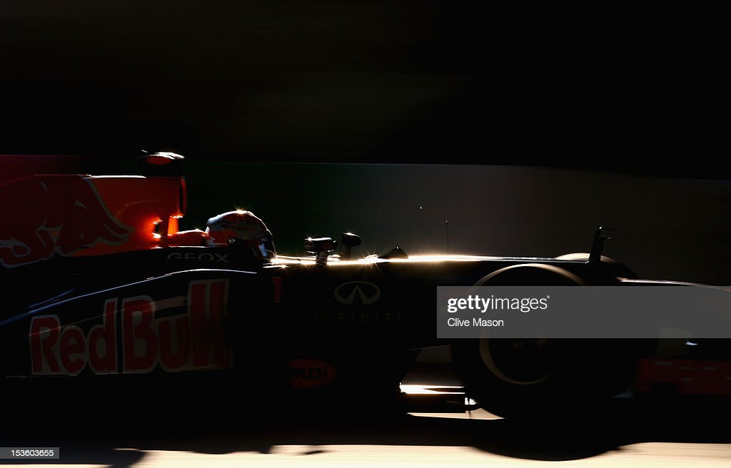 <a gi-track='captionPersonalityLinkClicked' href=/galleries/search?phrase=Sebastian+Vettel&family=editorial&specificpeople=2233605 ng-click='$event.stopPropagation()'>Sebastian Vettel</a> of Germany and Red Bull Racing drives during the Japanese Formula One Grand Prix at the Suzuka Circuit on October 7, 2012 in Suzuka, Japan.