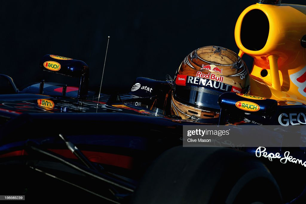 Sebastian Vettel of Germany and Red Bull Racing drives during the final practice session prior to qualifying for the United States Formula One Grand Prix at the Circuit of the Americas on November 17, 2012 in Austin, Texas.