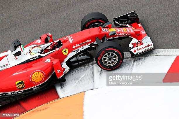 Sebastian Vettel of Germany driving the Scuderia Ferrari SF16H Ferrari 059/5 turbo on track during final practice ahead of the Formula One Grand Prix...