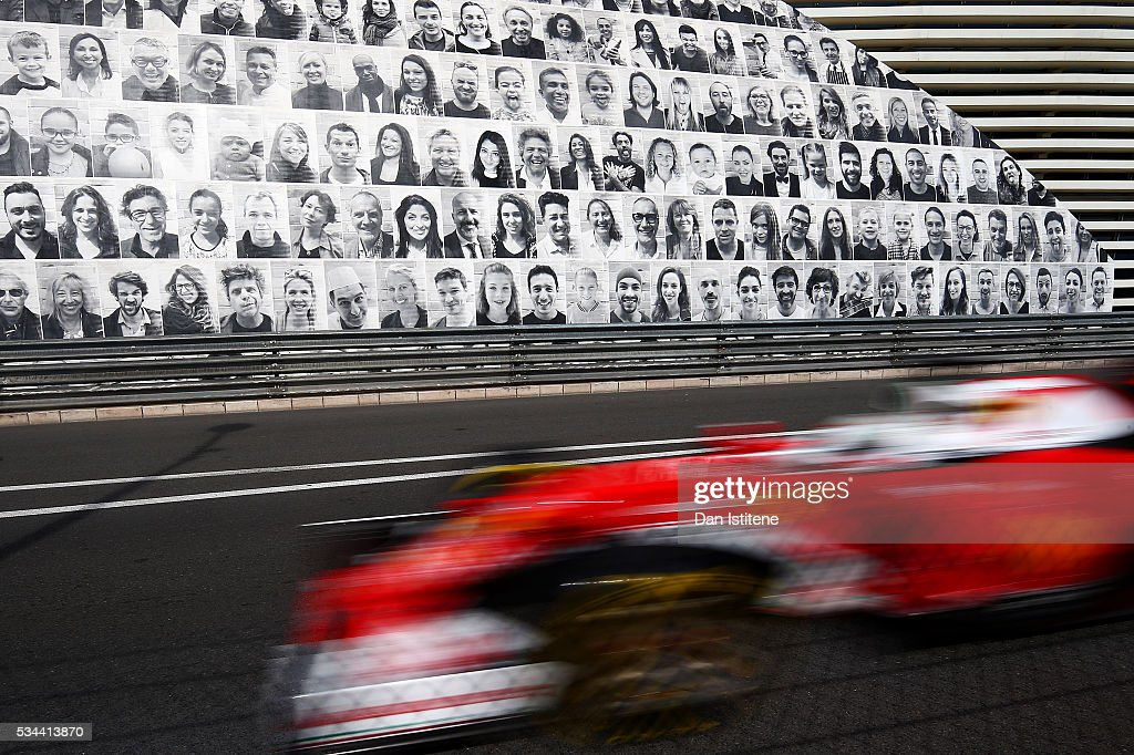 <a gi-track='captionPersonalityLinkClicked' href=/galleries/search?phrase=Sebastian+Vettel&family=editorial&specificpeople=2233605 ng-click='$event.stopPropagation()'>Sebastian Vettel</a> of Germany driving the (5) Scuderia Ferrari SF16-H Ferrari 059/5 turbo (Shell GP) on track during practice for the Monaco Formula One Grand Prix at Circuit de Monaco on May 26, 2016 in Monte-Carlo, Monaco.
