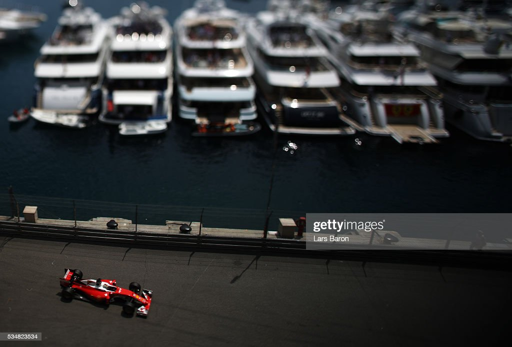 <a gi-track='captionPersonalityLinkClicked' href=/galleries/search?phrase=Sebastian+Vettel&family=editorial&specificpeople=2233605 ng-click='$event.stopPropagation()'>Sebastian Vettel</a> of Germany driving the (5) Scuderia Ferrari SF16-H Ferrari 059/5 turbo (Shell GP) on track during qualifying for the Monaco Formula One Grand Prix at Circuit de Monaco on May 28, 2016 in Monte-Carlo, Monaco.