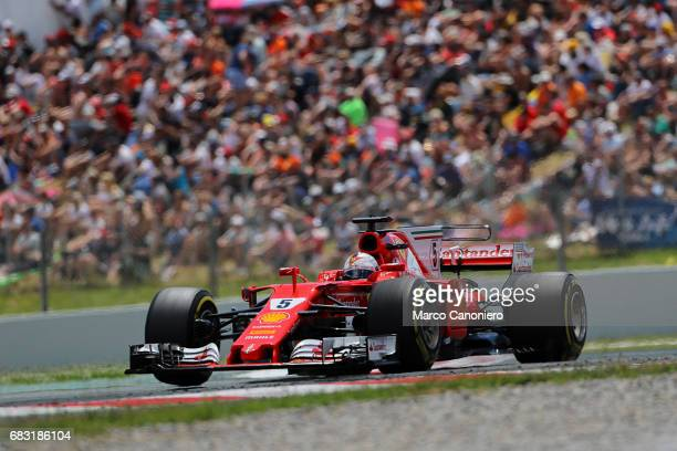 DE CATALUNYA MONTEMELò BARCELONA SPAIN Sebastian Vettel of Germany driving the Scuderia Ferrari SF70H on track during the Spanish Formula One Grand...