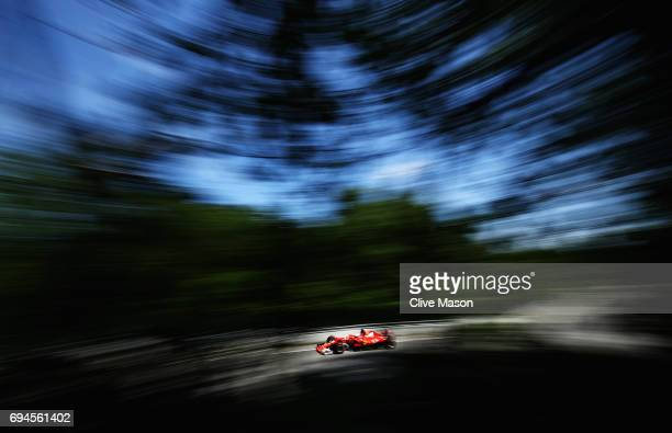 Sebastian Vettel of Germany driving the Scuderia Ferrari SF70H on track during qualifying for the Canadian Formula One Grand Prix at Circuit Gilles...