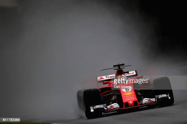 Sebastian Vettel of Germany driving the Scuderia Ferrari SF70H on track during final practice for the Formula One Grand Prix of Italy at Autodromo di...