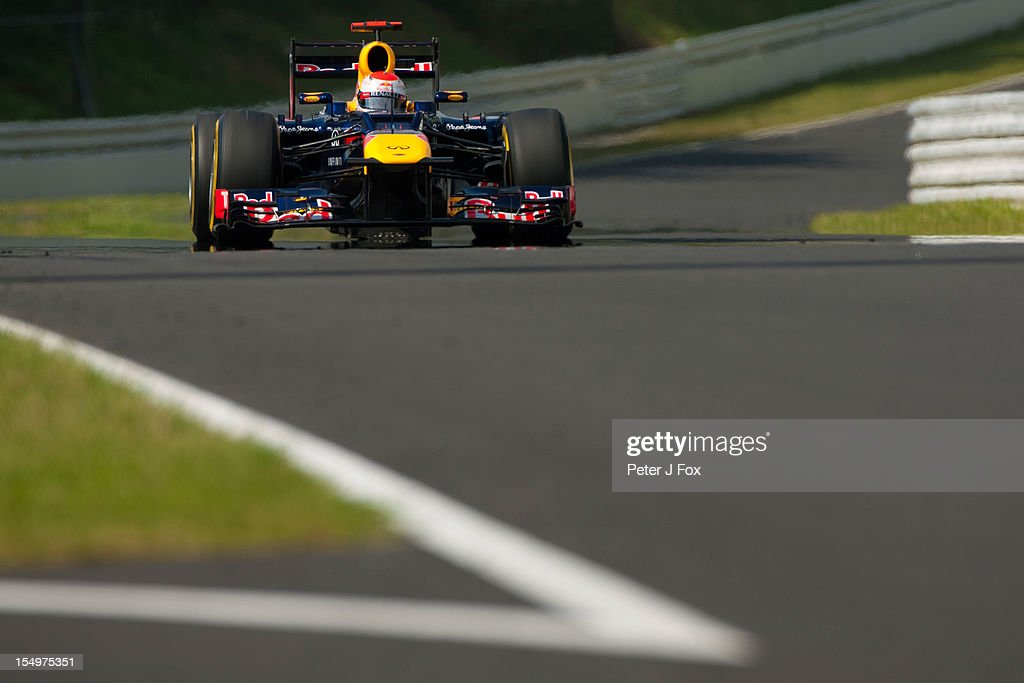 Sebastian Vettel of Red Bull & Germany during the Japanese Formula One Grand Prix at the Suzuka Circuit on October 7, 2012 in Suzuka, Japan.