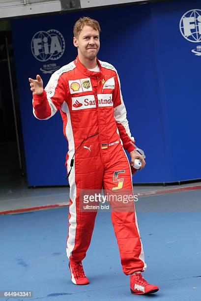 Sebastian Vettel Scuderia Ferrari Platz 2 beim Qualifying formula formula 1 GP Malaysia in Kuala Lumpur/Sepang