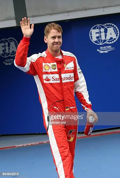 Sebastian Vettel Scuderia Ferrari Platz 2 beim Qualifyingformula 1 GP Malaysia in Kuala Lumpur/Sepang