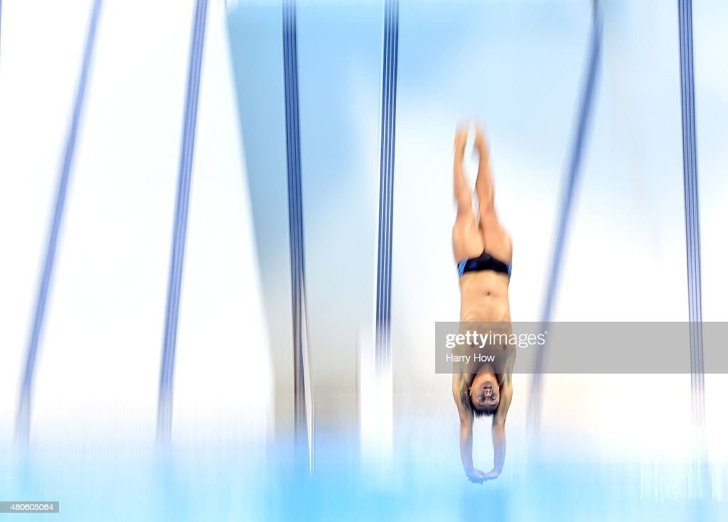 Sebastian Villa of Colombia competes during the men's 10M platform diving preliminary at the CIBC Aquatic Centre on July 12, 2015 in Scarborough, Canada.