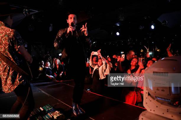 Sebastian Yatra performs during the 2017 Spanish Broadcasting System Upfront at Copacabana Club Times Square on May 16 2017 in New York City