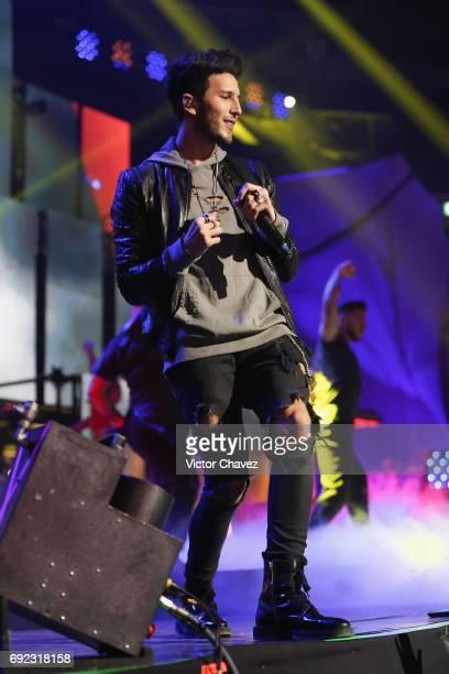 Sebastian Yatra performs on stage during the MTV MIAW Awards 2017 at Palacio de Los Deportes on June 3 2017 in Mexico City Mexico