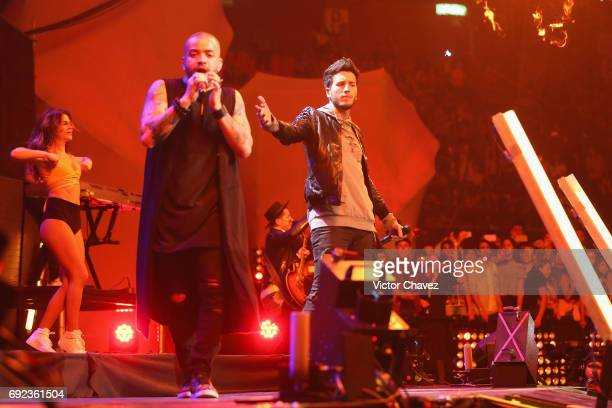 Sebastian Yatra performs on stage during the MTV MIAW Awards 2017 at Palacio de Los Deportes on June 3 2017 in Mexico City Mexico