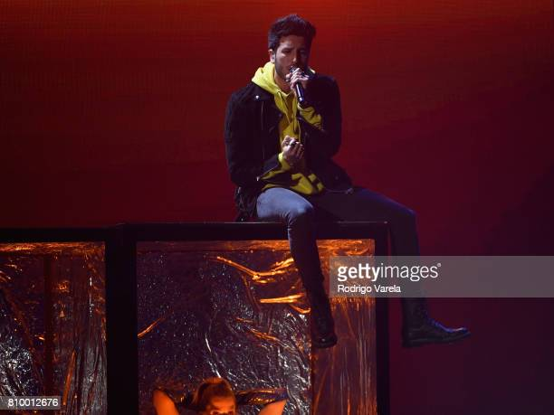 Sebastian Yatra performs on stage during Univision's 'Premios Juventud' 2017 Celebrates The Hottest Musical Artists And Young Latinos ChangeMakers at...