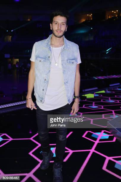Sebastian Yatra rehearses on stage during Univision's 'Premios Juventud' 2017 Celebrates The Hottest Musical Artists And Young Latinos ChangeMakers...