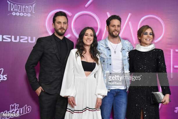 Sebastian Zurita Mariana Trevino Christopher Von Uckermann Camila Sodi are seen attending at red carpet of 'Como Cortar a tu Patan' film premiere on...
