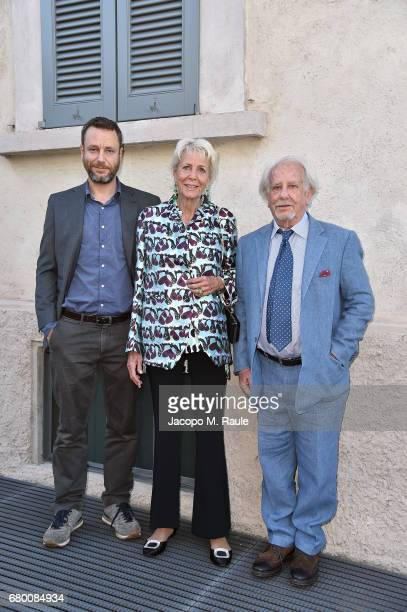 Sebastiano Mauri Diana Mauri and Achille Mauri attend a 'Private view of 'TV 70 Francesco Vezzoli Guarda La Rai' at Fondazione Prada on May 7 2017 in...