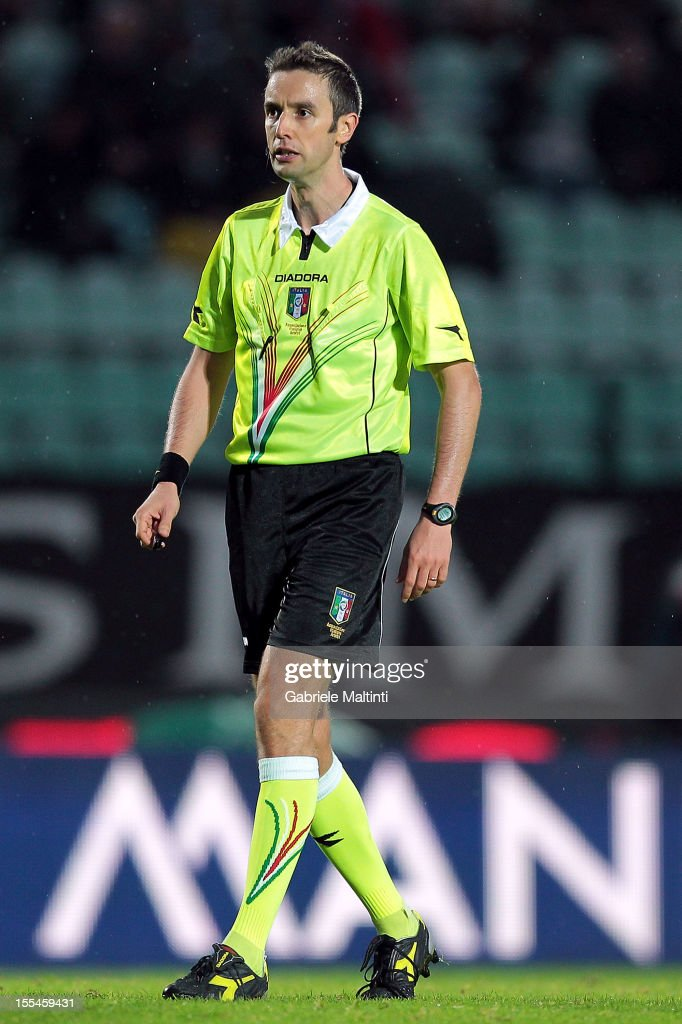 Sebastiano Peruzzo of Schio referee looks during the Serie A match between AC Siena and Genoa CFC at Stadio Artemio Franchi on November 4, 2012 in Siena, Italy.