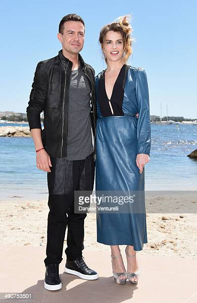 Sebastiano Riso and Micaela Ramazzotti attend the 'Piu' Buio Di Mezzanotte' Photocalll during the 67th Annual Cannes Film Festival on May 15 2014 in...