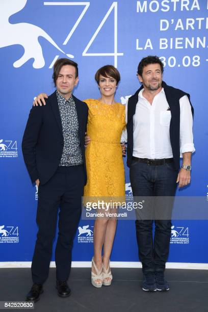 Sebastiano Riso Micaela Ramazzotti and Patrick Bruel attend the 'Una Famiglia' photocall during the 74th Venice Film Festival on September 4 2017 in...