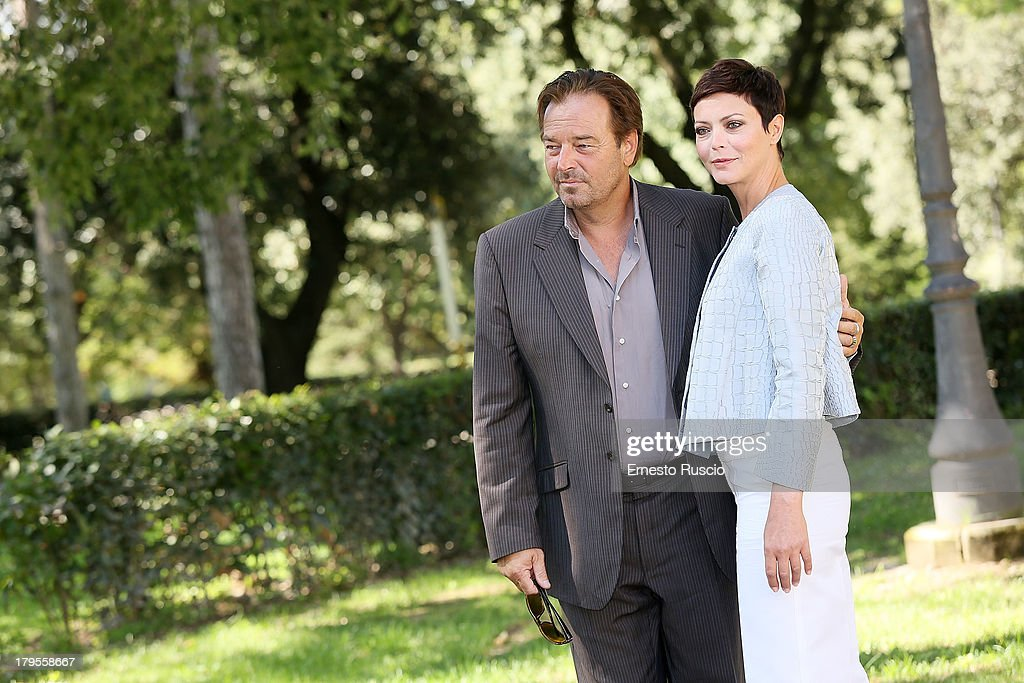 Sebastiano Somma and Vittoria Belvedere attend the 'Un Caso Di Coscienza 5' photocall at Casa del Cinema on September 5, 2013 in Rome, Italy.