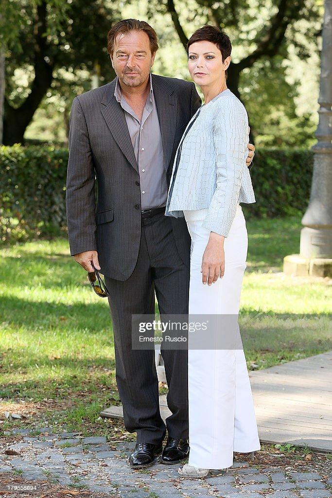 Sebastiano Somma and Vittoria Belvedere attend the 'Un Caso Di Coscienza 5' photocall at Casa del Cinema on September 5, 2013 in Rome, Italy.