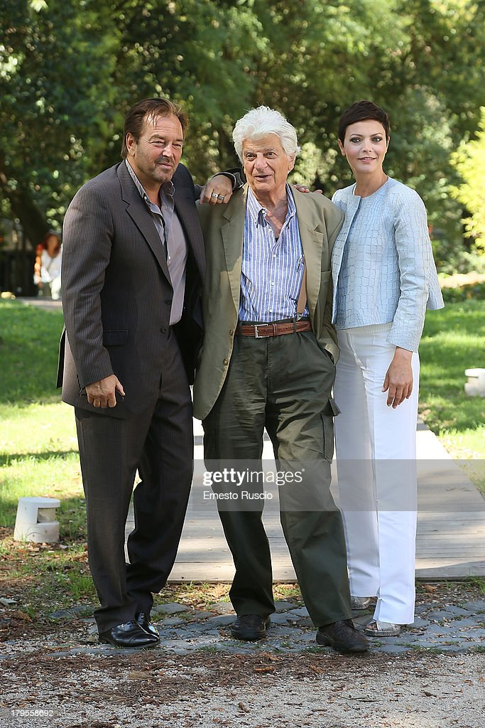 Sebastiano Somma, Luigi Perelli and Vittoria Belvedere attend the 'Un Caso Di Coscienza 5' photocall at Casa del Cinema on September 5, 2013 in Rome, Italy.