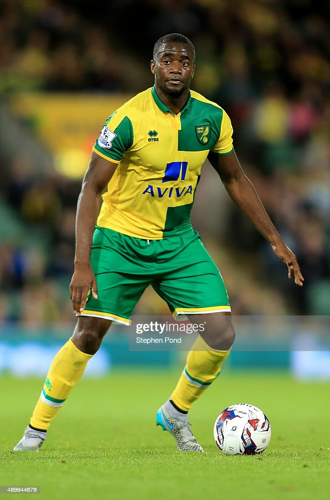 Sebastien Bassong of Norwich City during the Capital One Cup Third Round match between Norwich City and West Bromwich Albion at Carrow Road on...
