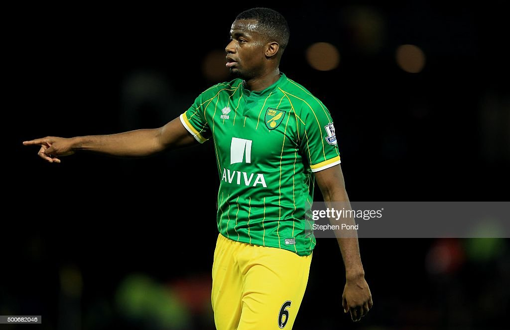 Sebastien Bassong of Norwich City during the Premier League match between Watford and Norwich City at Vicarage Road stadium on December 5 2015 in...