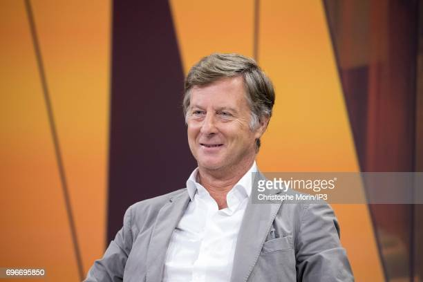 Sebastien Bazin Chairman and CEO of AccorHotels attends a conference during Viva Technology at Parc des Expositions Porte de Versailles on June 16...