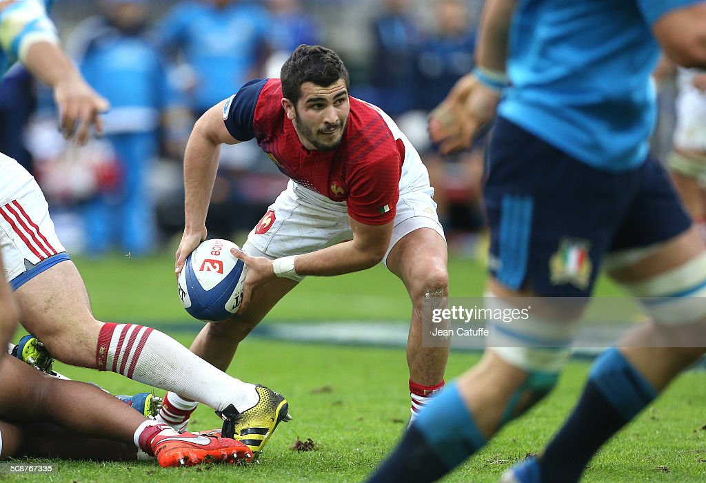 Sebastien Bezy of France in action during the RBS 6 Nations match between France and Italy at Stade de France on February 6, 2016 in Saint-Denis nearby Paris, France.