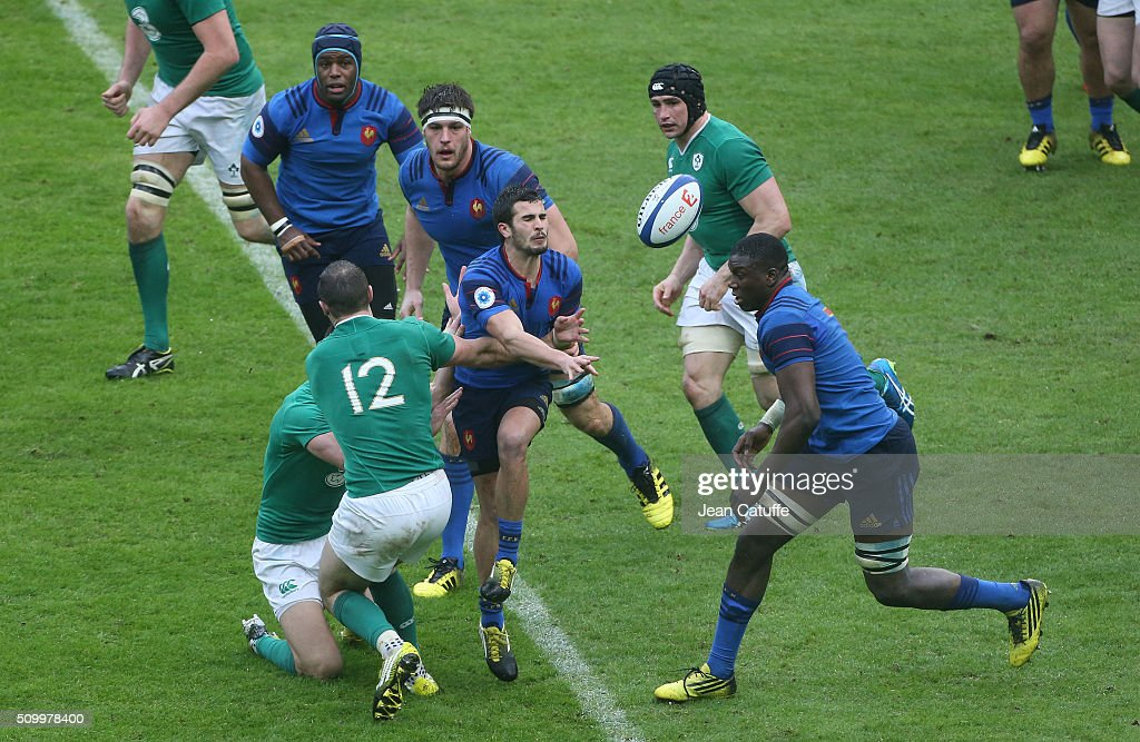 Sebastien Bezy of France in action during the RBS 6 Nations match between France and Ireland at Stade de France on February 13, 2016 in Saint-Denis nearby Paris, France.