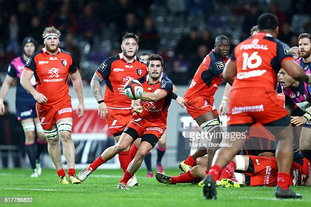 Sebastien Bezy of Toulouse during the French Top 14 rugby union match between Stade Toulousain v Stade Francais Paris at Stadium Municipal on March...