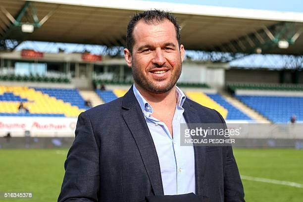 Sebastien Boueilh president of the 'Colosse aux Pieds d'Argile' an association fighting against paedophilia in the sport community poses on March 18...