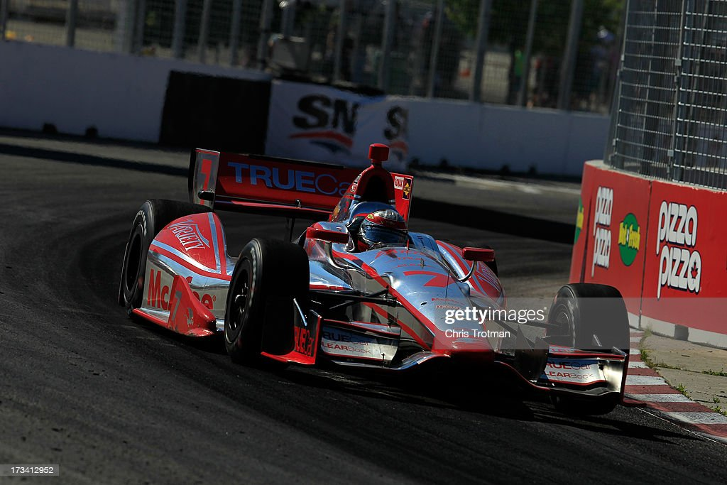 <a gi-track='captionPersonalityLinkClicked' href=/galleries/search?phrase=Sebastien+Bourdais&family=editorial&specificpeople=178338 ng-click='$event.stopPropagation()'>Sebastien Bourdais</a> of France drives the #7 Dragon Racing Chevrolet during the IZOD INDYCAR Series Honda Indy Toronto Race #1 on July 13, 2013 in Toronto, Canada.
