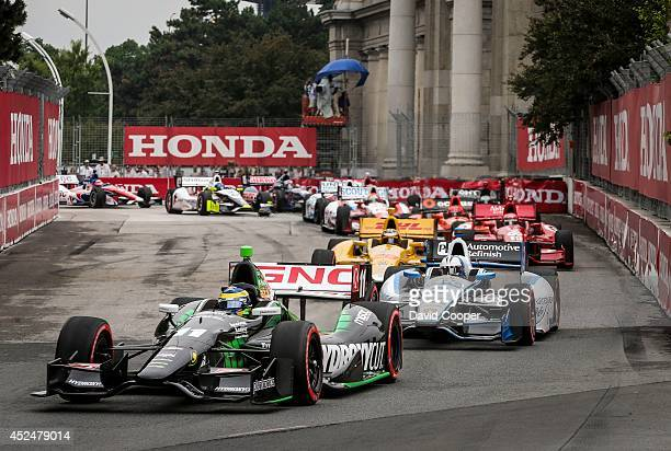 TORONTO ON JULY 20 Sebastien Bourdais wins the first of two Indy Car races Bourdais lead most of the race except when he pitted at the Honda Indy...