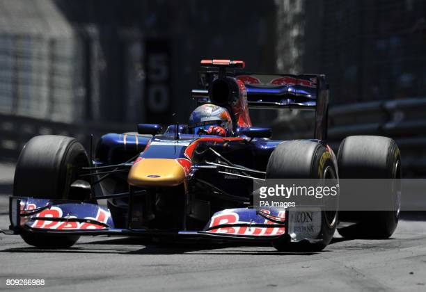 Sebastien Buemi in his Toro Rosso on his way to tenth place during the Monaco Grand Prix at the Circuit de Monaco Monte Carlo