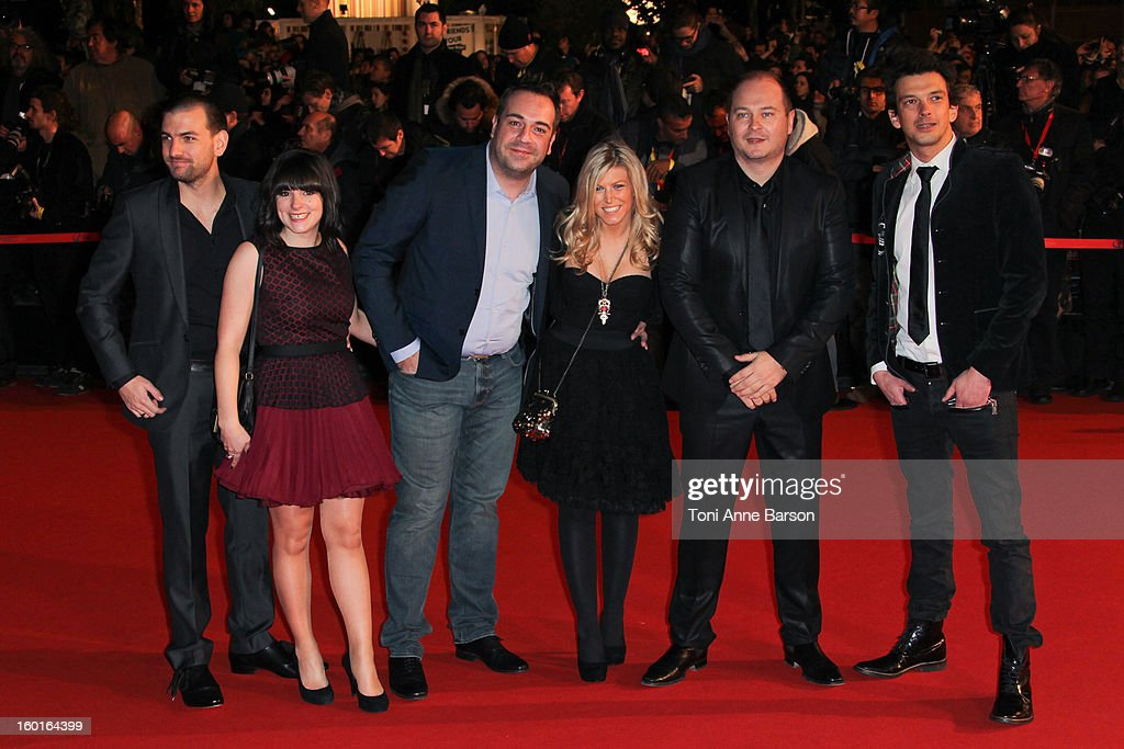 <a gi-track='captionPersonalityLinkClicked' href=/galleries/search?phrase=Sebastien+Cauet&family=editorial&specificpeople=2362457 ng-click='$event.stopPropagation()'>Sebastien Cauet</a> and NRJ team arrives at the NRJ Music Awards 2013 at Palais des Festivals on January 26, 2013 in Cannes, France.