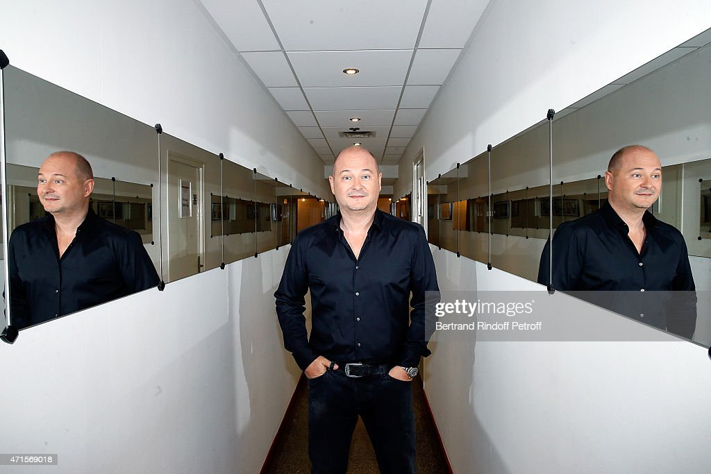 <a gi-track='captionPersonalityLinkClicked' href=/galleries/search?phrase=Sebastien+Cauet&family=editorial&specificpeople=2362457 ng-click='$event.stopPropagation()'>Sebastien Cauet</a> attends the 'Vivement Dimanche' French TV at Pavillon Gabriel on April 29, 2015 in Paris, France.