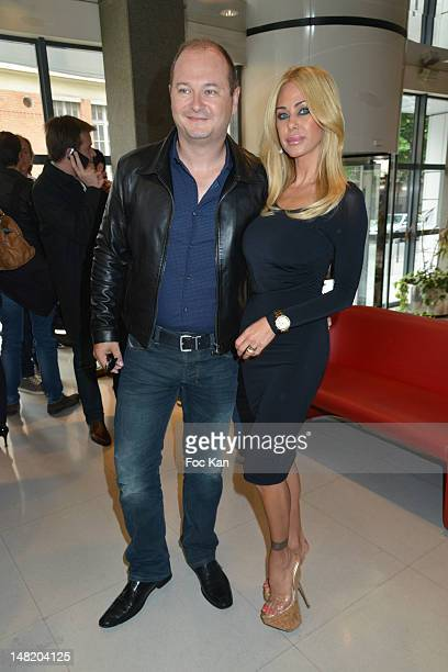 Sebastien CauetÊand Shauna Sand attend the NRJ 12 Reality TV Press Conference at NRJ 12 Studio on July 12 2012 in Paris France