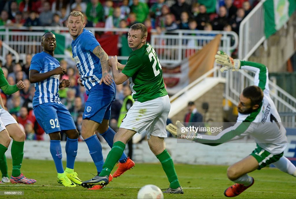 Sebastien Dewaest defender of Krc Genk pictured during UEFA Europa League third qualifying round 2nd Leg match between Cork City FC and KRC Genk on...