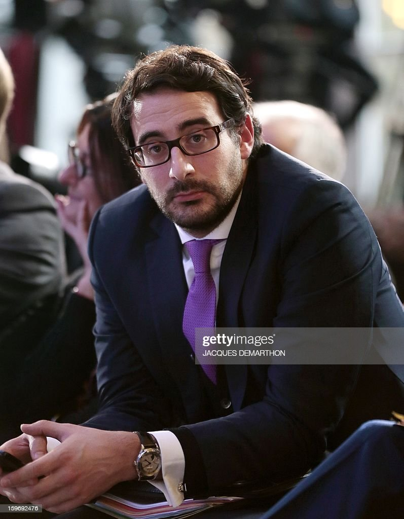 Sebastien Gros, head of staff of French Interior minister attends the presentation of the report of the past year and the prospects of the security policy for the upcoming yearon January 18, 2013 at the ministry in Paris.